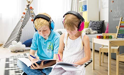 Kinder erledigen Hausaufgaben ruhiger und fokussierter mit einem Gehörschutz